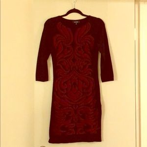 NINE WEST long sleeved black and red dress